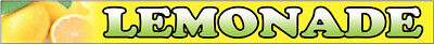 LEMONADE Vinyl Banner Concession Food Sign 1x10 ft  - yb