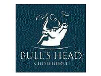 FULL & PART TIME STAFF REQUIRED at The Bulls Head Chislehurst- £7.20 p/h +TIPS