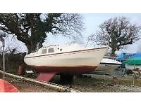 westerly ceantuar 26 ft bilge keel 6 berth sailing boat
