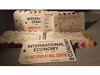 Royal Mail International Standard Economy Priority Premium 50 X Tag Bag Labels