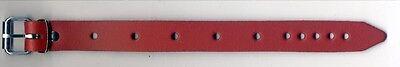 5 Befestigungsriemen ROT Leder 2,0 x 24,0 cm lang Lederriemen für viele Zwecke