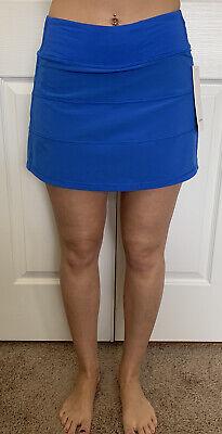 """Lululemon Size 4 Pace Rival Skirt Tall Blue WDBL Tennis Run Speed Swift 15"""""""