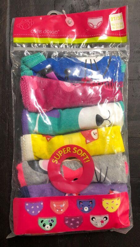 Okie Dokie Girls 7 Pair Pack Panties Underwear Size 2T / 3T