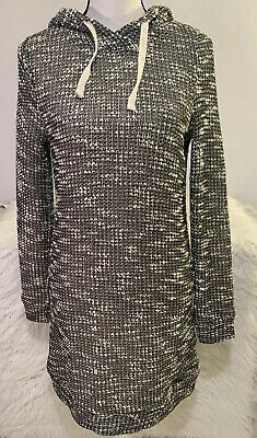 Fabletics Yukon Tweed Sweater Dress Hooded/Lined Women's Size Small NWT