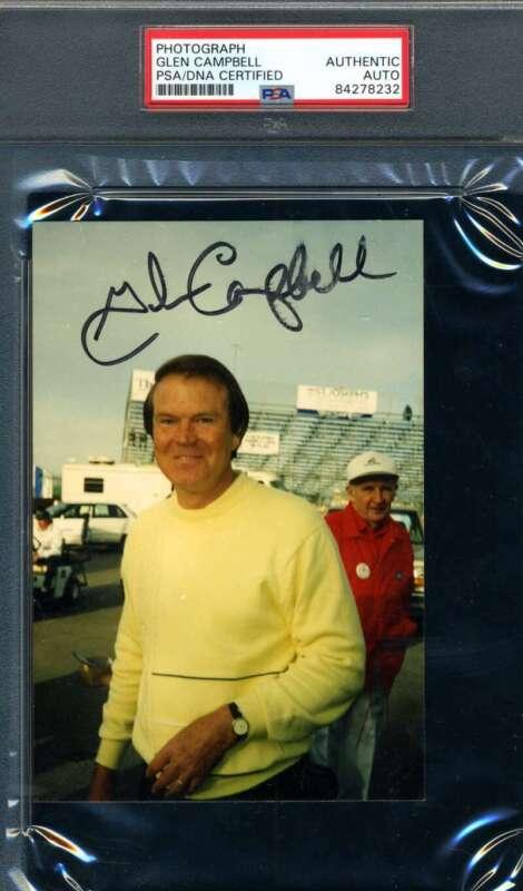 Glen Campbell PSA DNA Cert Signed Original Photo 1993 Autograph