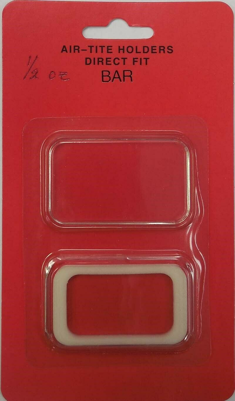 AirTite Capsule Holder For 1//2 Oz Bar White Ring Archival Storage Free Shipping