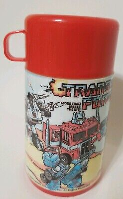 Transformers Hasbro Aladdin Thermos For Lunchbox 1984 Vintage