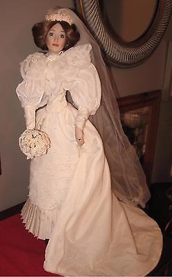 "Lenox Victorian Bride Doll Fine Porcelain 22"" Tall w Box"