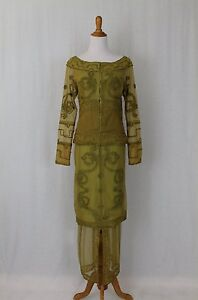 Nataya Soutache Tulle Edwardian Style 2 piece Downton Abbey Titanic Dress S NWT