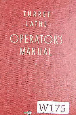 Warner Swasey Turret Lathe Operator Manual Year 1940
