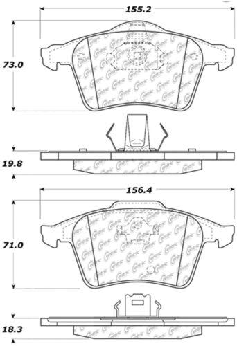Disc Brake Pad Set fits 2003-2014 Volvo XC90 CENTRIC PARTS