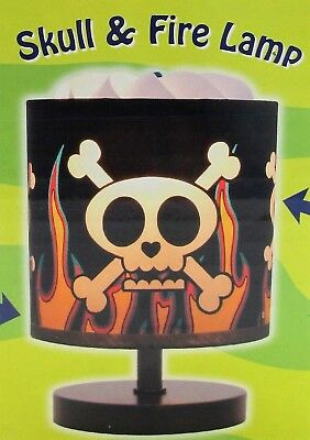 (Magic Spinning Lamp Skull and Fire Lamp with Dimmer & Halogen Bulb NEW In Box )