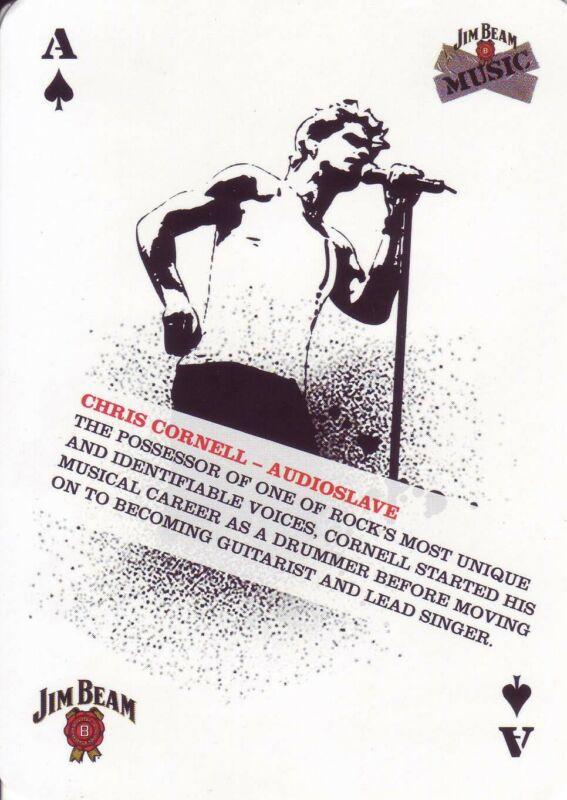 Chris Cornell Audioslave Music Playing Card Jim Beam
