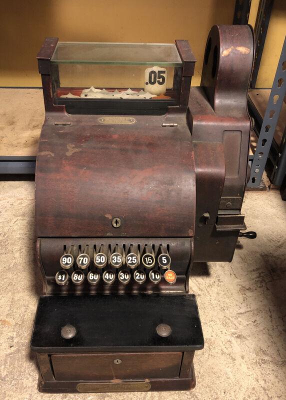 Antique National cash register Model 1117 NCR Barber Shop