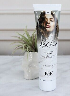 IGK Rich Kid Coconut Oil Infused Gel 145ml Shine Smooth Straight Curly Hair New