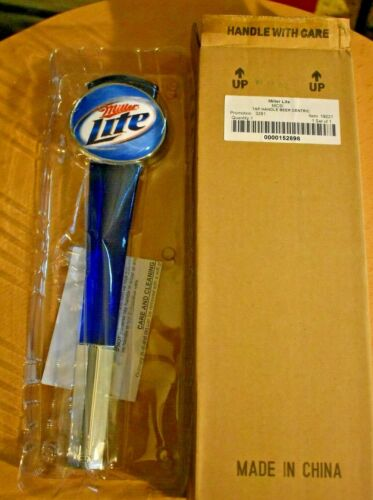 """Miller Lite 12"""" Lucite Beer Tapper Topper Tap Handle Knob NEW IN BOX"""