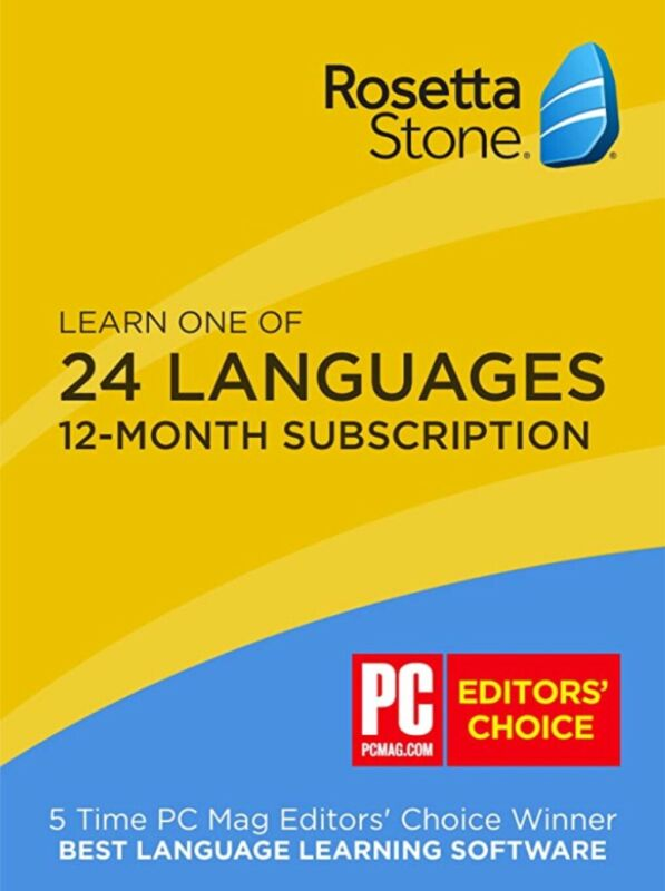 The Rosetta Stone Full Course 12 Month Use (1 User) 24 Languages - New -