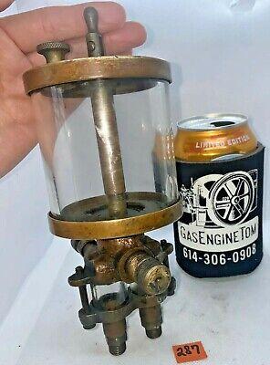 Essex Brass Double Feed Oiler Oilfield Hit Miss Gas Engine Antique Bessemer Old