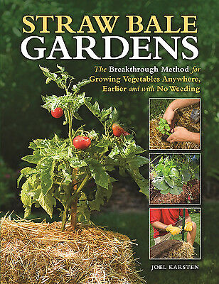 Straw Bale Gardens is a guide to growing Vegetables, no bending or soil required on Rummage