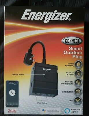 Energizer Connect Smart Outdoor Plug EOX3-1001-BLK NEW in Factory Sealed Box