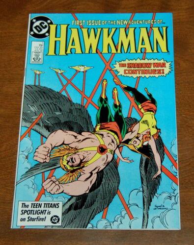 HAWKMAN #1  BRONZE AGE DC COMIC - HIGH GRADE NM-/NM 1986 Shadow War