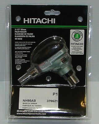 "Hitachi NH90AB 2-1/2"" to 3-1/2"" Palm Nailer with 360° Swivel Fitting"