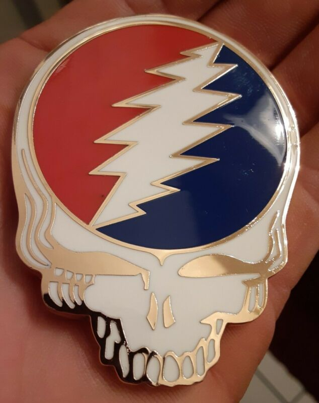 Steal Your Face Belt Buckle (Gold)