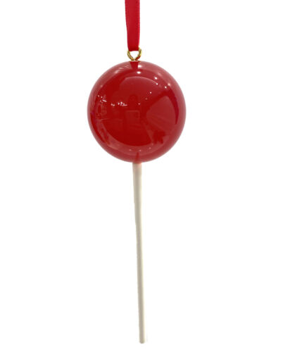 OPAQUE Bright Pink Candy Lollipop Christmas Ornament Pick Prop Spring