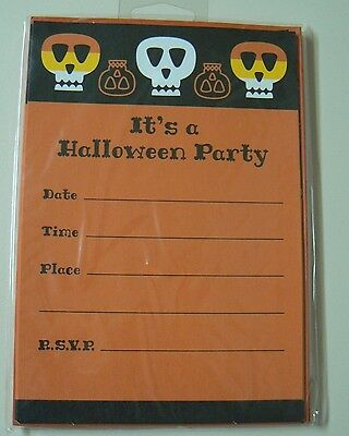 Halloween Party Invitation Designs (Hallmark HALLOWEEN INVITATIONS - 2 pks Fill In Party Info Flat Card Design)