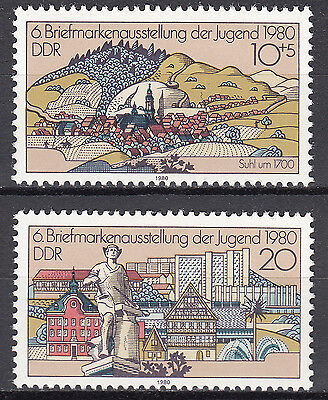 DDR 1980 Mi. Nr. 2532-2533 Postfrisch ** MNH