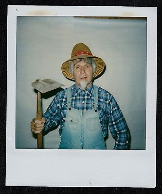 Vintage Polaroid Photograph Farmer With Hoe Costume - Hoe Halloween Costumes