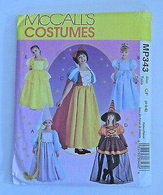 Cinderella Halloween Costume Pattern (McCalls MP343 Cinderella Halloween Costume Sewing Pattern Storybook Uncut 4 5)