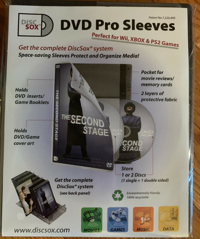 DiscSox Storage System DVD / Blu-Ray Pro Sleeves 25pk *NEW*