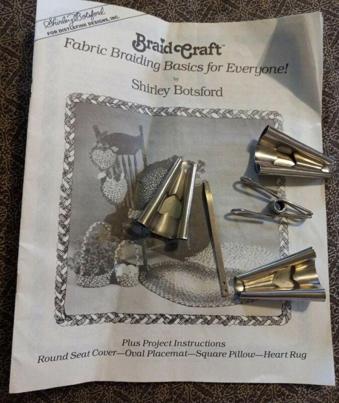 Fabric Rag Rug Braiding Basic Shirley Botsford Braid Craft Instruction & Tools