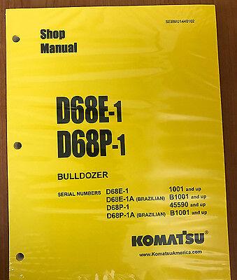 Komatsu D68e-1d68p-1 Crawler Tractor Dozer Bulldozer Shop Repair Service Manual