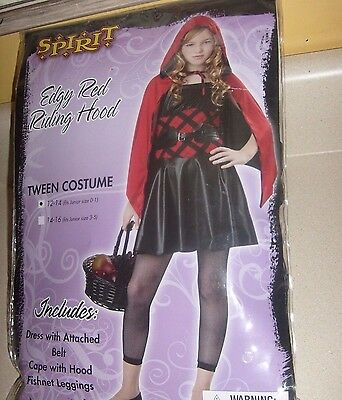 Wicked Cute RED RIDING HOOD Goth Girl JR Halloween Costume NEW 12-14 01 Teen