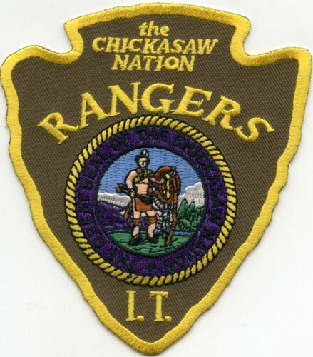 CHICKASAW NATION INDIAN TRIBE OKLAHOMA OK TRIBAL RANGERS police PATCH