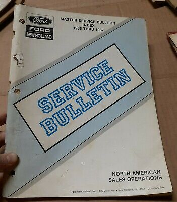 Ford New Holland Tractor Master Service Bulletin Index 1965 Thru 1987