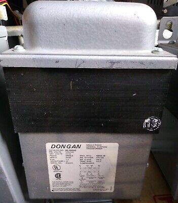 Dongan 80-m040 Single Phase Transformer Primary120x240v Sec 1224v 1.5 Kva