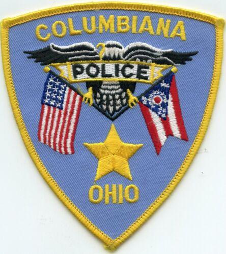 COLUMBIANA OHIO OH POLICE PATCH