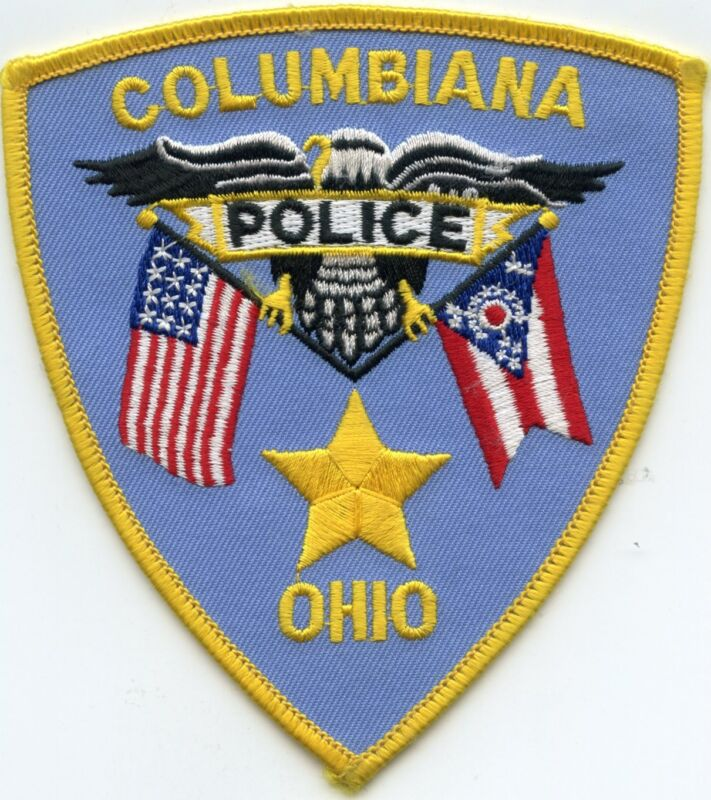 COLUMBIANA OHIO OH state flag POLICE PATCH