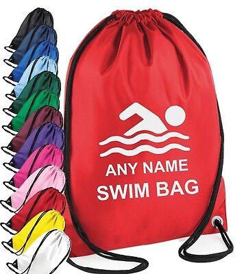 Personalisiert Jungen Mädchen Schwimmen Satz Sporttasche Pe Schule Sport Holiday