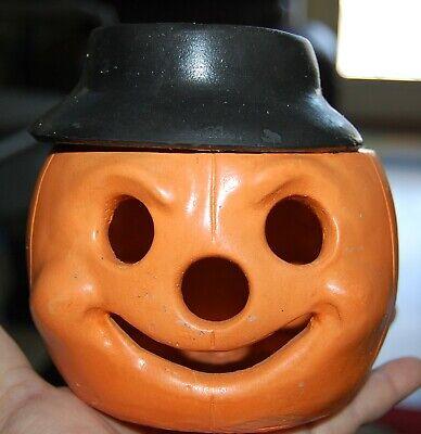 Vintage LITTLE DUMPLING JACK-O-LANTERN Halloween CANDLE HOLDER Voltive
