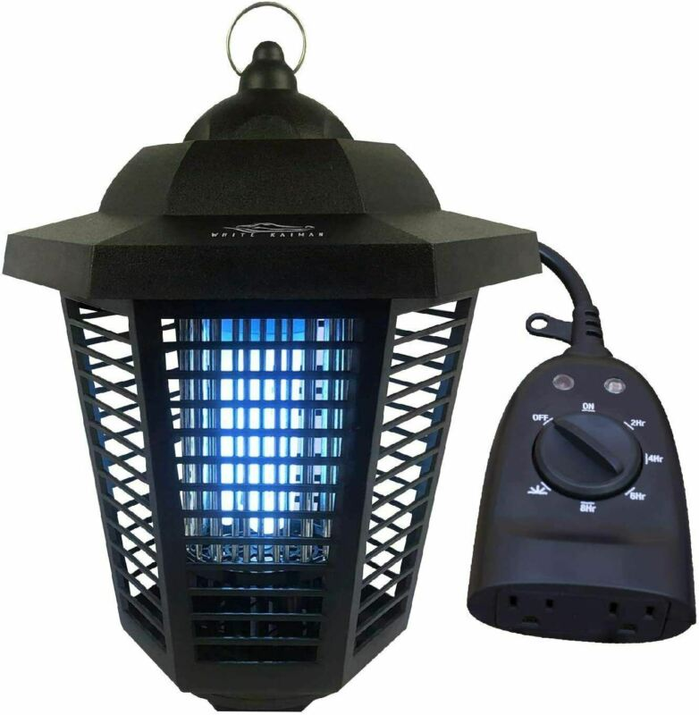 1/2 Acre Mosquito Killing Lamp Electric Bug Zapper w Outdoor Timer - Refurbished