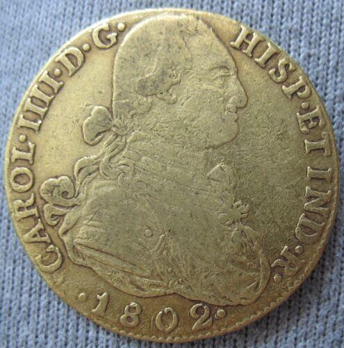 Colombia 1802 NR JJ Gold 8 Escudos