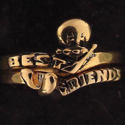 RING SET Tweety Bird WARNER BROS LOONEY TUNES WB STORE Gold BEST FRIENDS (Best Bro Rings)