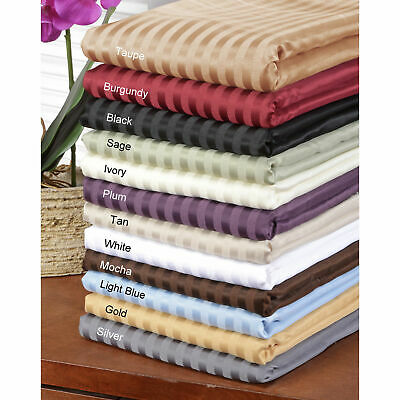 Best Bedding Collection 1000 TC Egyptian Cotton Select Stripe Color US Cal