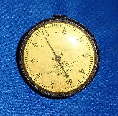 Mahr Federal Perpendicular Dial Indicator Gage J8i .001 Grad .100 R