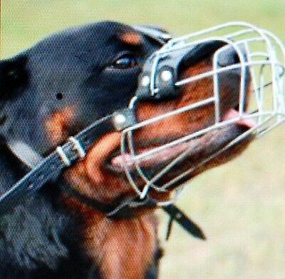 Metallo FORTE Cestello In Filo Metallico Museruola Per Cani Rottweiler,Mastiff