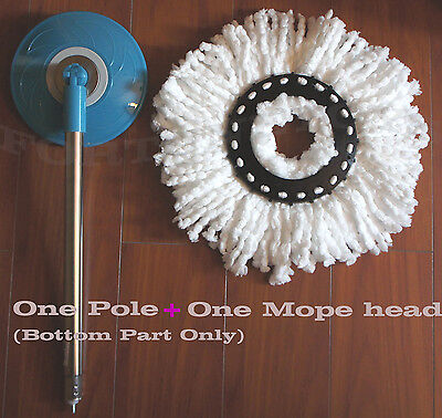 Replacement Metal Pole Bottom Part B + Mop For Hurricane 360° Magic Spin Mop